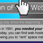 infografia la evolucion de web hosting