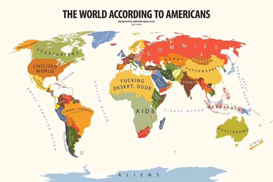 vision del mundo de norteamericanos