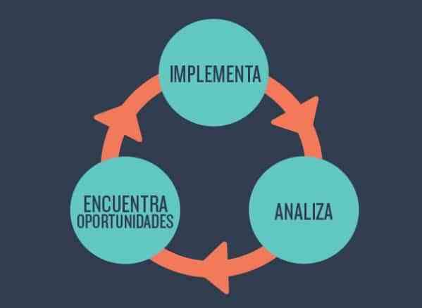 implementa y encuentra oportunidades y analiza