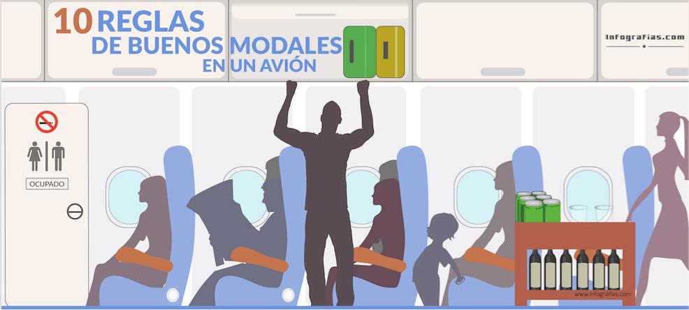 10 reglas de buenos modales en un avion