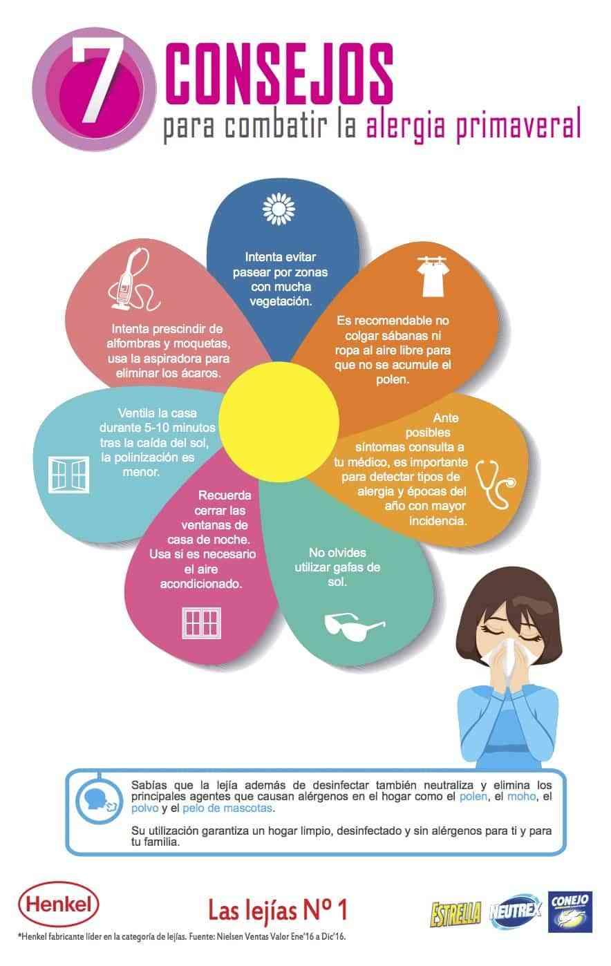 Infografia Consejos para combatir la alergia primaveral