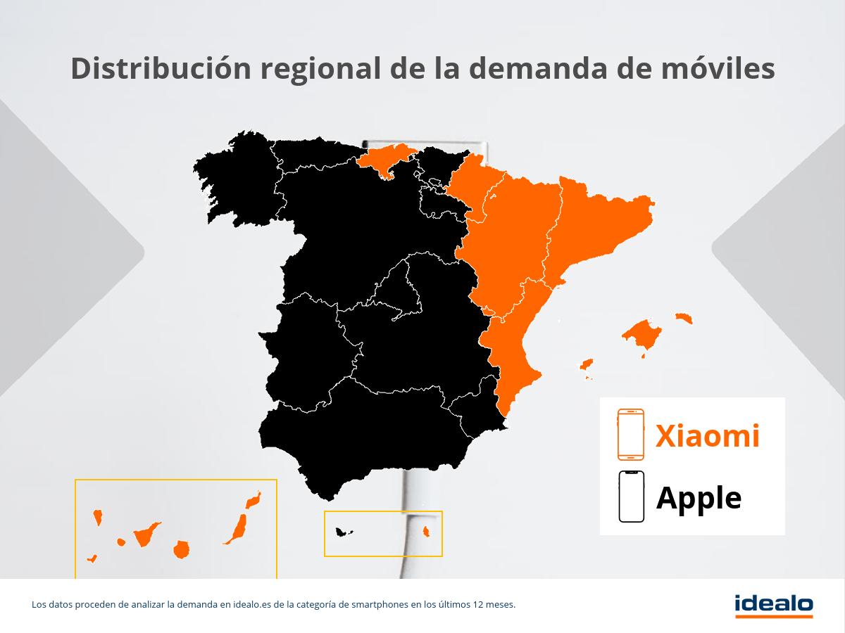 moviles por region mapa espana es